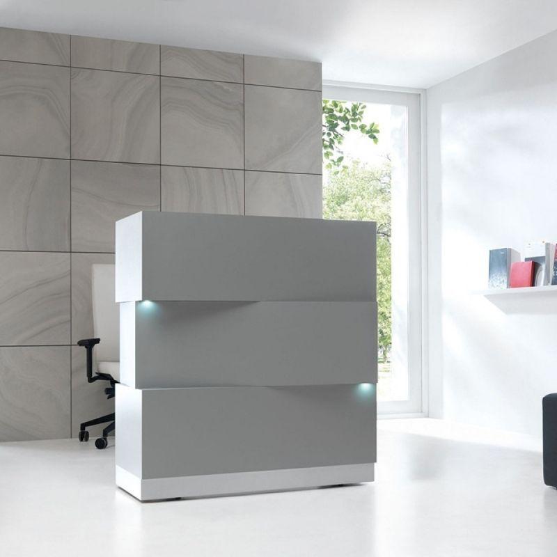 ZEN Reception Desk, Grey