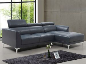 Slate Sectional Right Hand Chaise, Blue