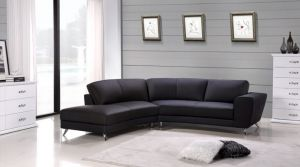 Julie Sectional, Left Hand Chaise, Black