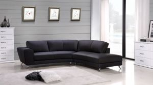 Julie Sectional, Right Hand Chaise, Black