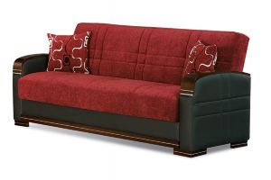 Indiana Sofa Bed, Red/Brown