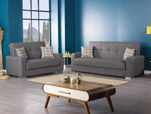Kansas Living Room Set, Grey