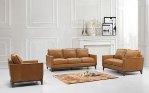 Harper Living Room Set, Saddle