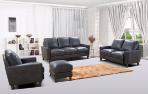 York Living Room Set, Grey