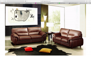 Sienna Living Room Set, Brown