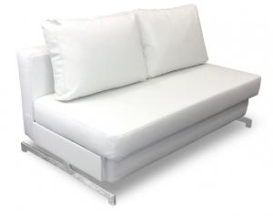 K43-2 Premium Sofa Bed, White
