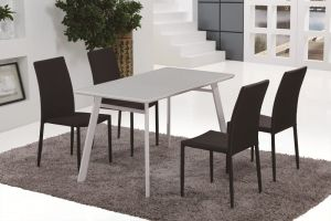 B24 Dining Table & DC13 Dining Chairs (Black)