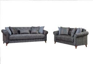 Barcelona Living Room Set, Grey
