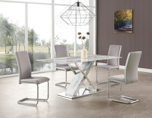 D1274DT W/ D4957DC Grey Chairs Dining Room Set