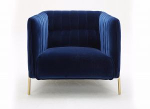 Deco Fabric Chair, Blue