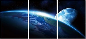 Premium Acrylic Wall Art Earth - SH-71880ABC