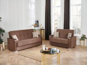 Frankfurt Living Room Set, Brown