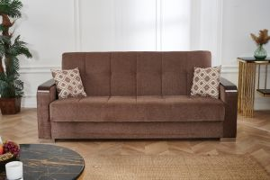 Frankfurt Sofa Bed, Brown
