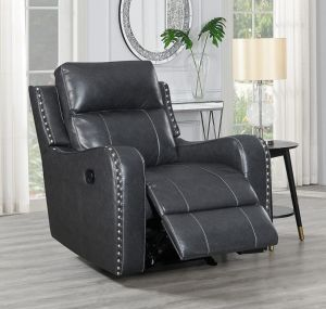 U131 Reclining Chair, Charcoal Grey