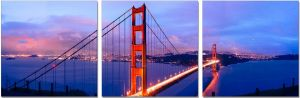 Premium Acrylic Wall Art Golden Gate Bridge - SH-71050ABC
