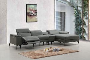 Hugo Sectional, Right Hand Chaise, Grey