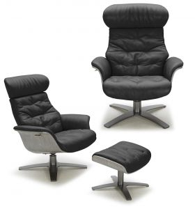 The Karma Lounge Chair, Black