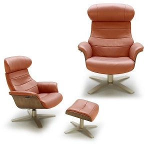 The Karma Lounge Chair, Pumpkin