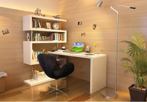 Modern office Desk KD002, White Lacquer