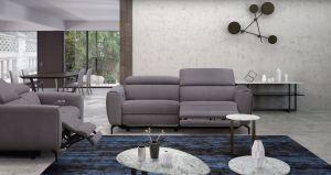 Lorenzo Motion Fabric Living Room Set, Grey