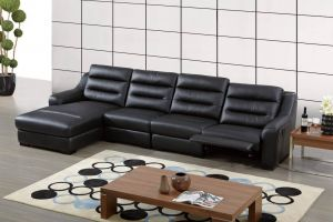 Ludlow Sectional Left Hand Chaise, Black