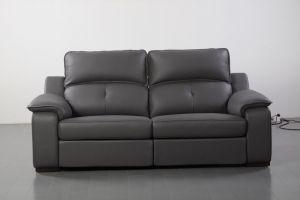 Thompson Sofa 2 Recliners, Grey