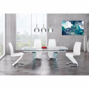 D2160DT W/D9002DC White Dining Room Set