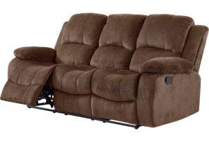 U3118C Reclining Sofa with Drop Down Table, Coffee