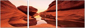 Premium Acrylic Wall Art Red Rock - SH-71674ABC