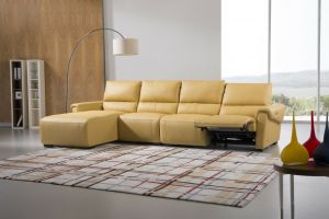 S275 Sectional Sofa Left Hand Chaise, Mustard