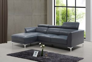 Slate Sectional Left Hand Chaise, Blue