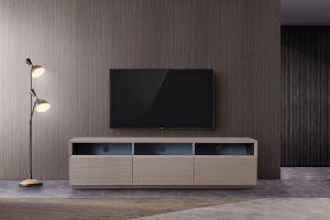 TV023 TV Stand, Grey Veener