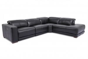Tyler Right Hand Chaise, Black