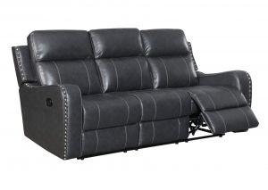U131 Reclining Sofa, Charcoal Grey