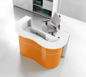 Wave LUV22 Modern Reception Desk, Orange