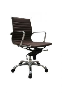 Comfy Low Back Office Chair, Brown