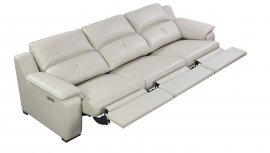 Thompson Sofa 3 Recliners, Taupe