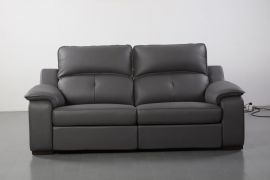 Thompson Sofa 2 Recliners, Grey