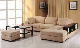 Telus Sectional, Right Hand Chaise, Beige