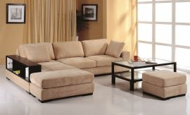 Telus Sectional, Left Hand Chaise, Beige