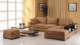 Telus Sectional, Right Hand Chaise, Brown