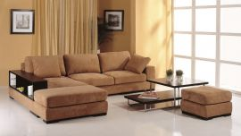Telus Sectional, Left Hand Chaise, Brown