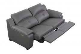 Thompson Loveseat 2 Recliners, Grey
