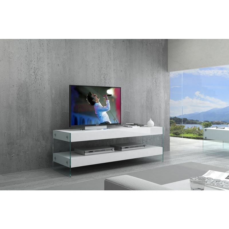 Cloud Mini TV Stand, White