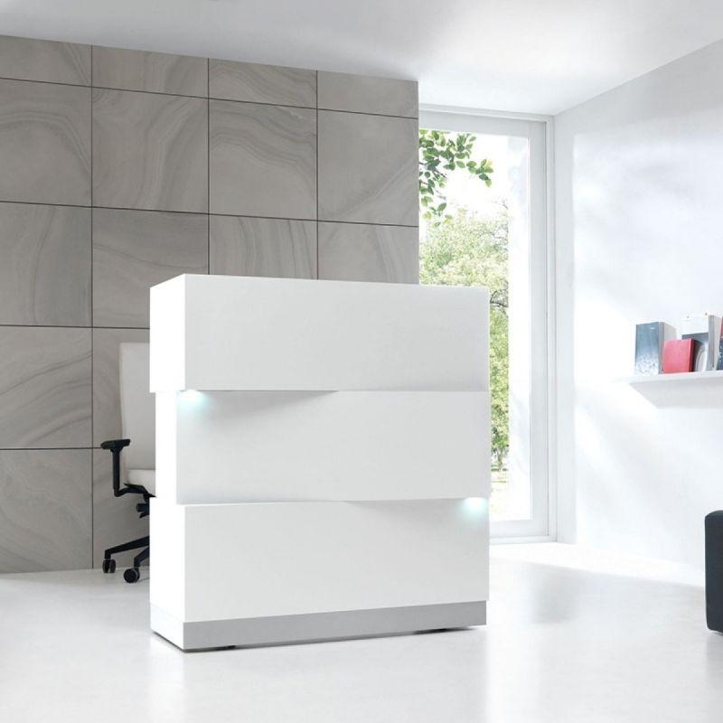 ZEN Reception Desk, White