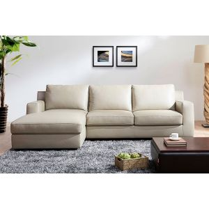 Jenny Premium Leather Sleeper Sectional, Left Hand Chase