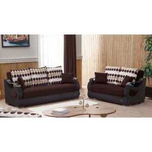 Illinois Living Room Set, Brown