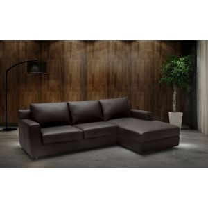 Taylor Premium Leather Sleeper Sectional, Right Hand Chase