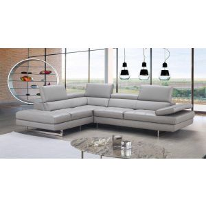 Aurora Italian Leather Sectional, Left Hand Chase