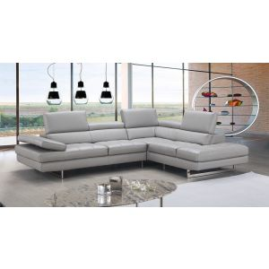 Aurora Italian Leathet Sectional, Right Hand Chase